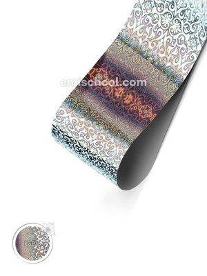 Foil holographic silver Arabesque, 1.5 m.