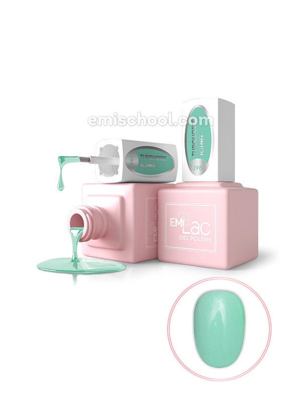 E.MiLac PR Turquoise Icing #198, 9 ml.