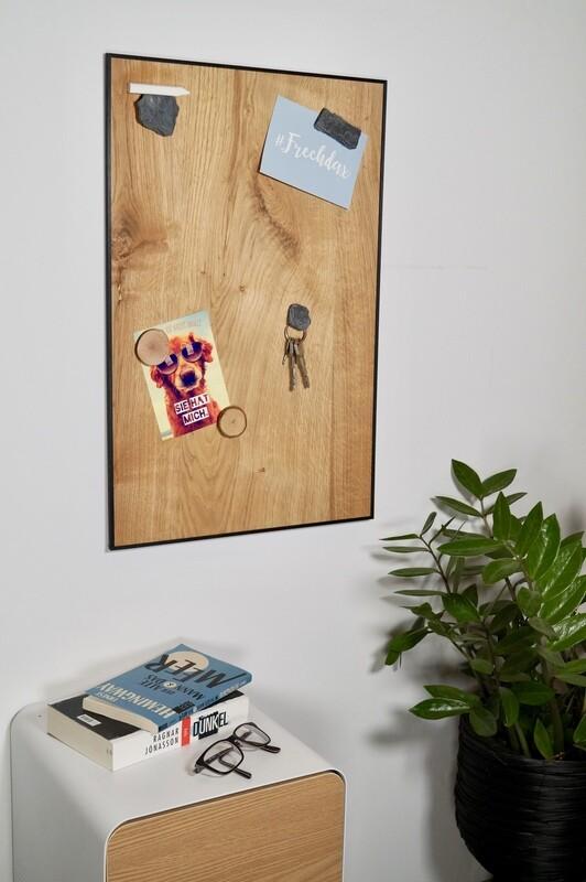 Magnettafel aus echtem Eichenholz - ''Split Oak''