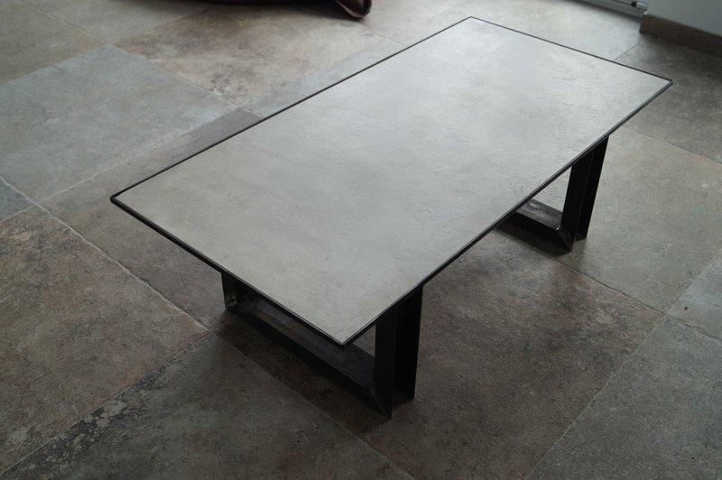 Couchtisch Feinsteinzeug ''Concrete Steel''