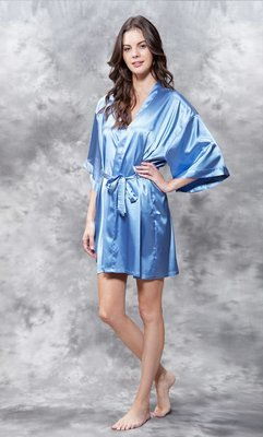 Satin Robe (Airy Blue)