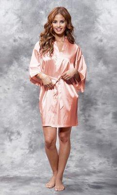 Satin Robe (Peach)