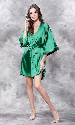 Satin Robe (Green)