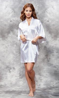 Satin Robe (White)