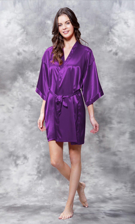 Satin Robe (Purple)