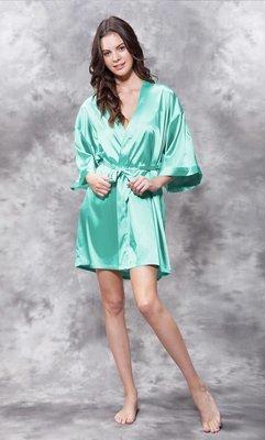 Satin Robe (Mint Green)