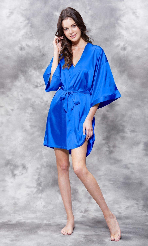 Satin Robe (Royal Blue)