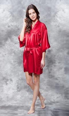 Satin Robe (Red)