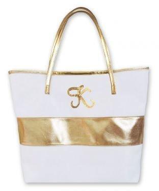 Monogram Gold Stripe Bag