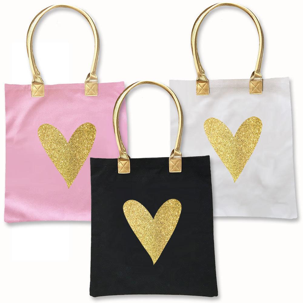 Glitter Heart Tote Bag