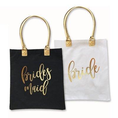Gold Bridal Tote Bag