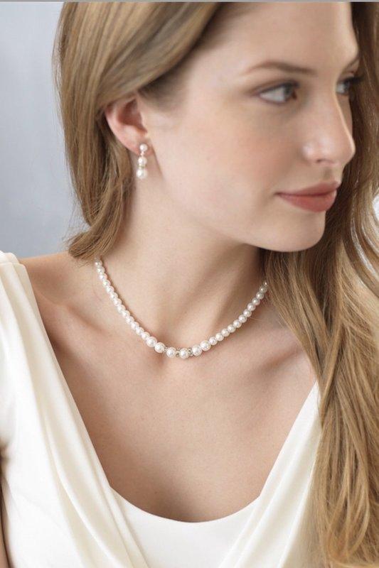 Pearl & Rhinestone 3 Piece Jewelry Set