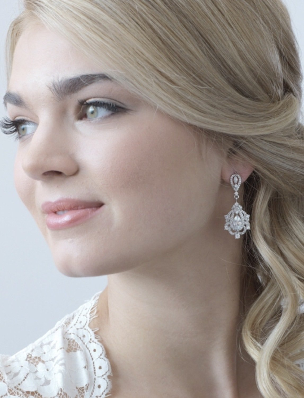 Regal CZ Earrings
