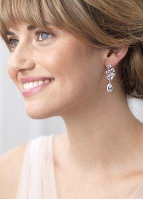 Antonella Floral CZ Earrings