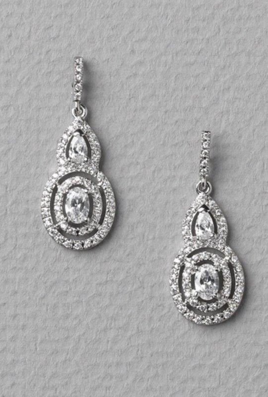 Tessa Modern CZ Earrings