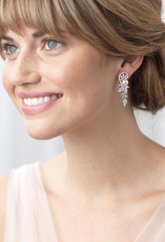Carolan CZ and Freshwater Pearl Earrings