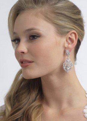 Fleur-de-lis CZ Earrings