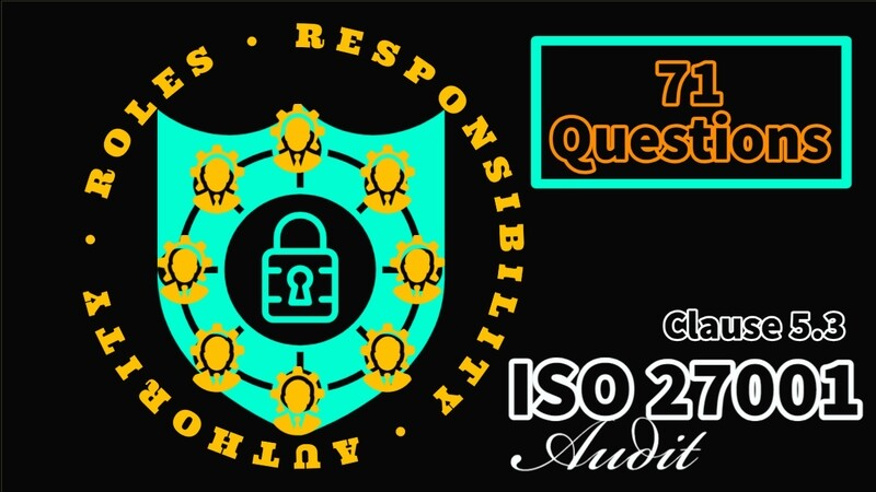 Roles Responsibility Authority Audit Checklist - Clause 5.3 - 71 Questions - ISO 27001 Checklist