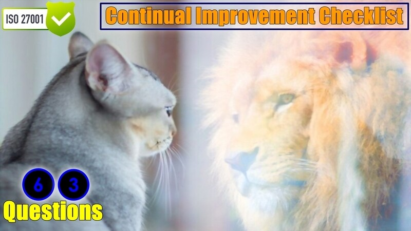 Continual Improvement Checklist | Clause 10.2 | 63 Questions | ISO 27001 Checklist