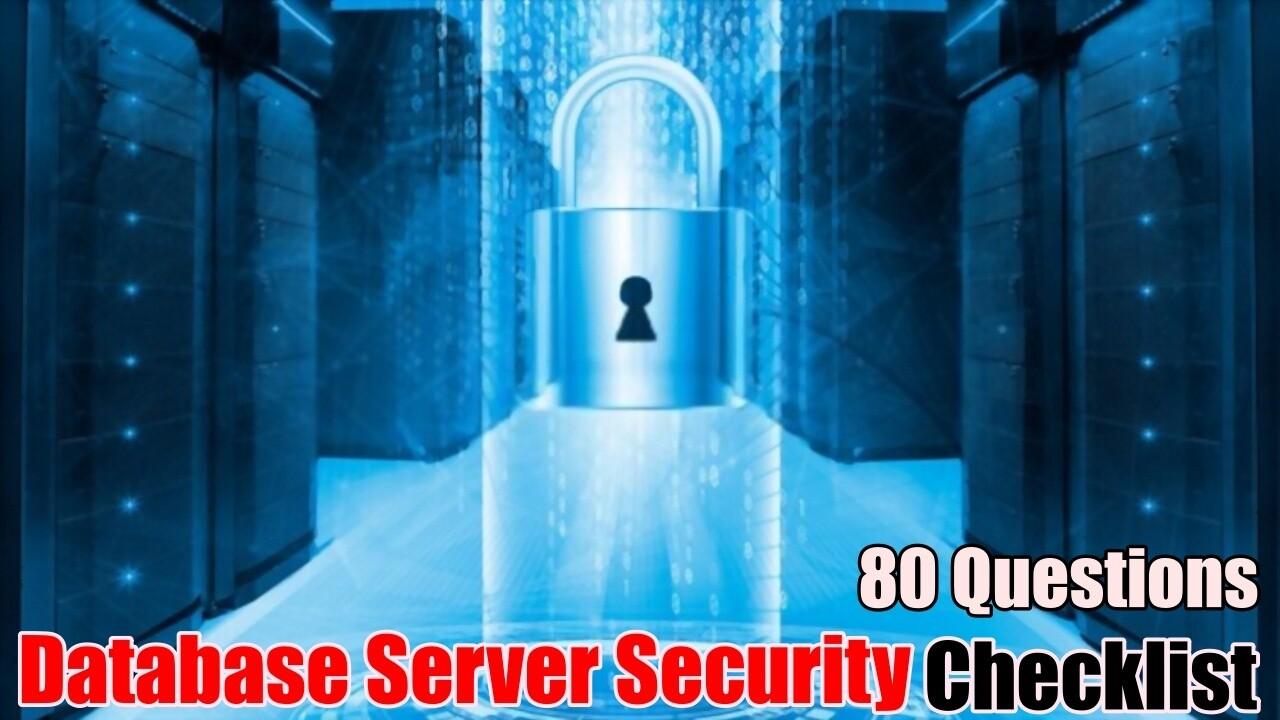 Database Server Security Checklist
