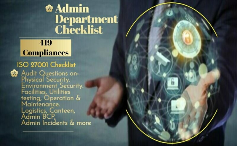 Admin Department Audit Checklist - ISO 27001 | Physical and Environmental Security Audit Checklist