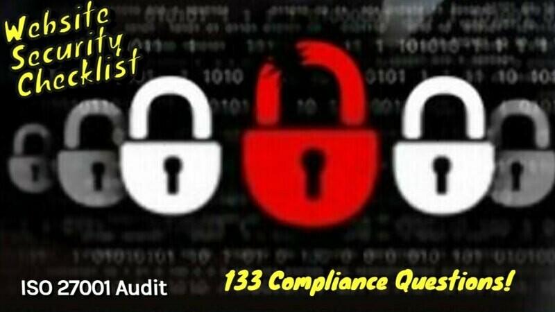 Website Security Checklist | Website Security Audit Checklist