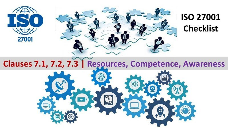 ISO 27001 Checklist | Clauses 7.1, 7.2, 7.3 | Resources, Competence, Awareness | 128 Questions