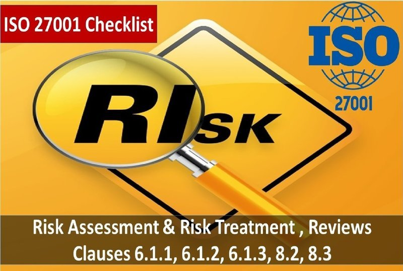 Risk Management | ISO 27001 Checklist | Clauses 6.1.1, 6.1.2, 6.1.3, 8.2, 8.3 - 251 Questions