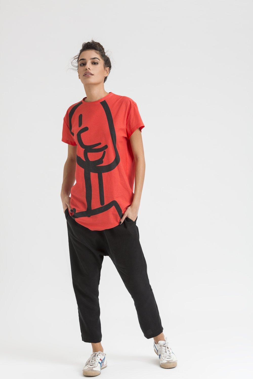 Big Figure T-shirt - RED