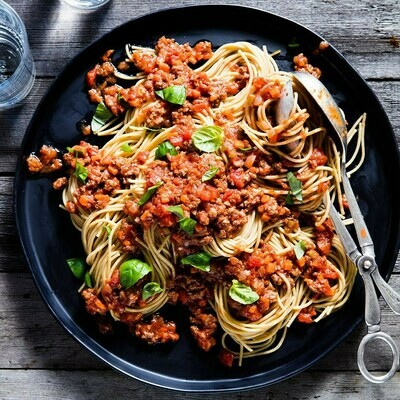 Bison Bolognese Protein Pasta