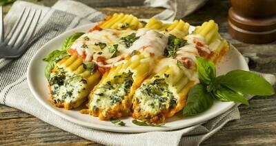 Spinach & Artichoke Stuffed Manicotti