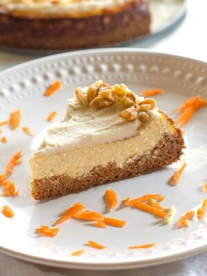 Protein Carrot Cheesecake