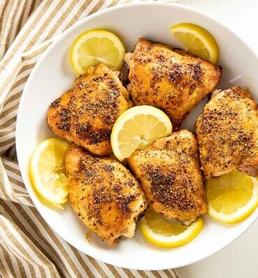 Lemon Pepper Baked Chicken Thighs