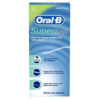 Нить межзубная Oral-B Super Floss, 50 шт. по 60 см.