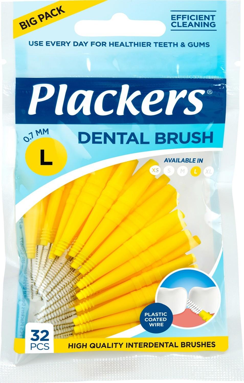 Межзубные ершики Plackers Dental Brush L 0,7 мм (32 шт)