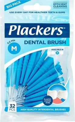 Межзубные ершики Plackers Dental Brush M 0,6 мм (32 шт)