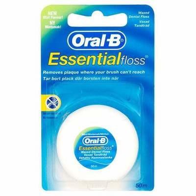 Нить вощеная мятная Oral-B Essential, 50 м