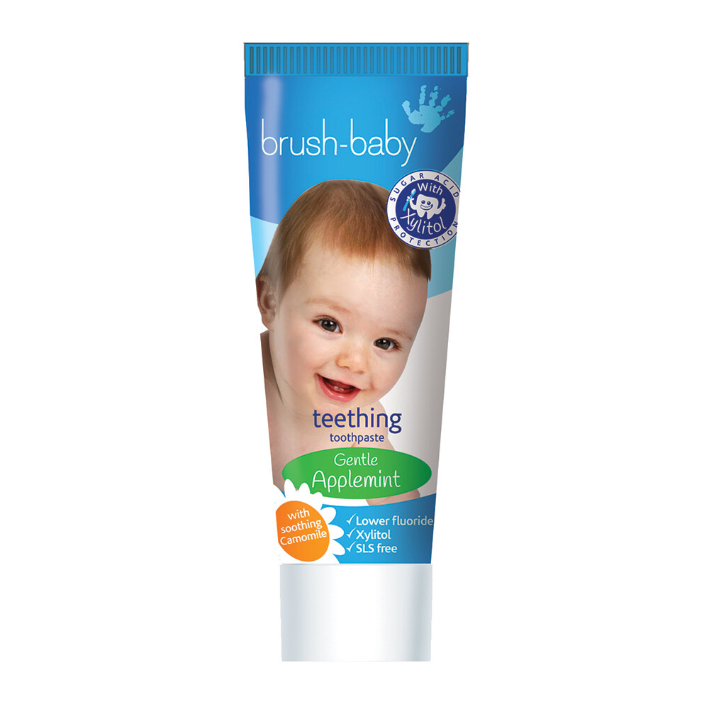 Зубная паста для прорезывающихся зубов Яблоко/Мята Brush Baby, 50 мл (0-2 года)