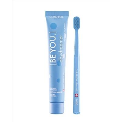Набор Curaprox Be You Blue set (Зубная паста Мечтатель ЕЖЕВИКА и ЛАКРИЦА + Зубная щетка CS5460)