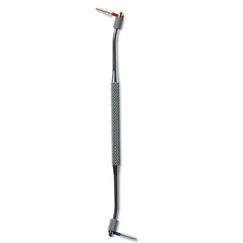 Двухсторонний держатель для ершиков (серебряный) Curaprox UHS 420
