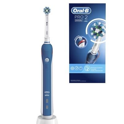 Электрическая зубная щетка Oral-B Pro 2000 синяя