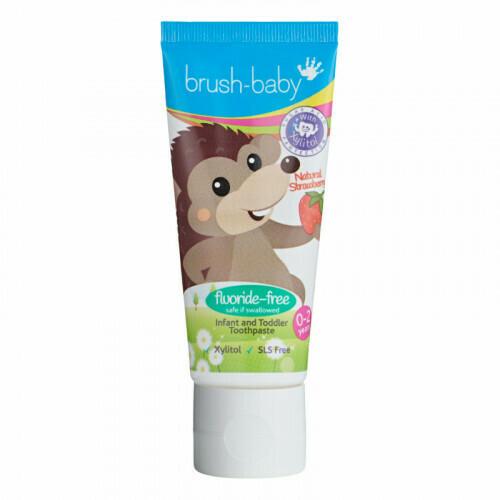 Зубная паста для прорезывающихся зубов Клубника Brush Baby, 50 мл (0-2 года)