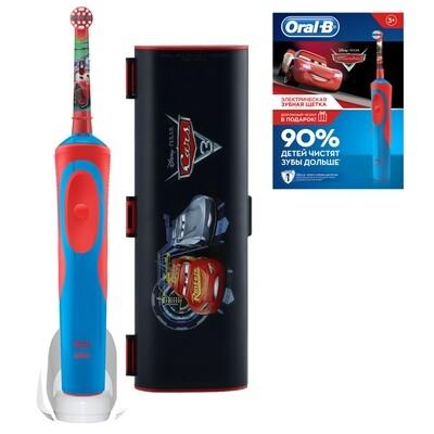 Электрическая зубная щетка Oral-B Vitality Kids Stages Power Тачки (с 3 лет) с дорожным чехлом