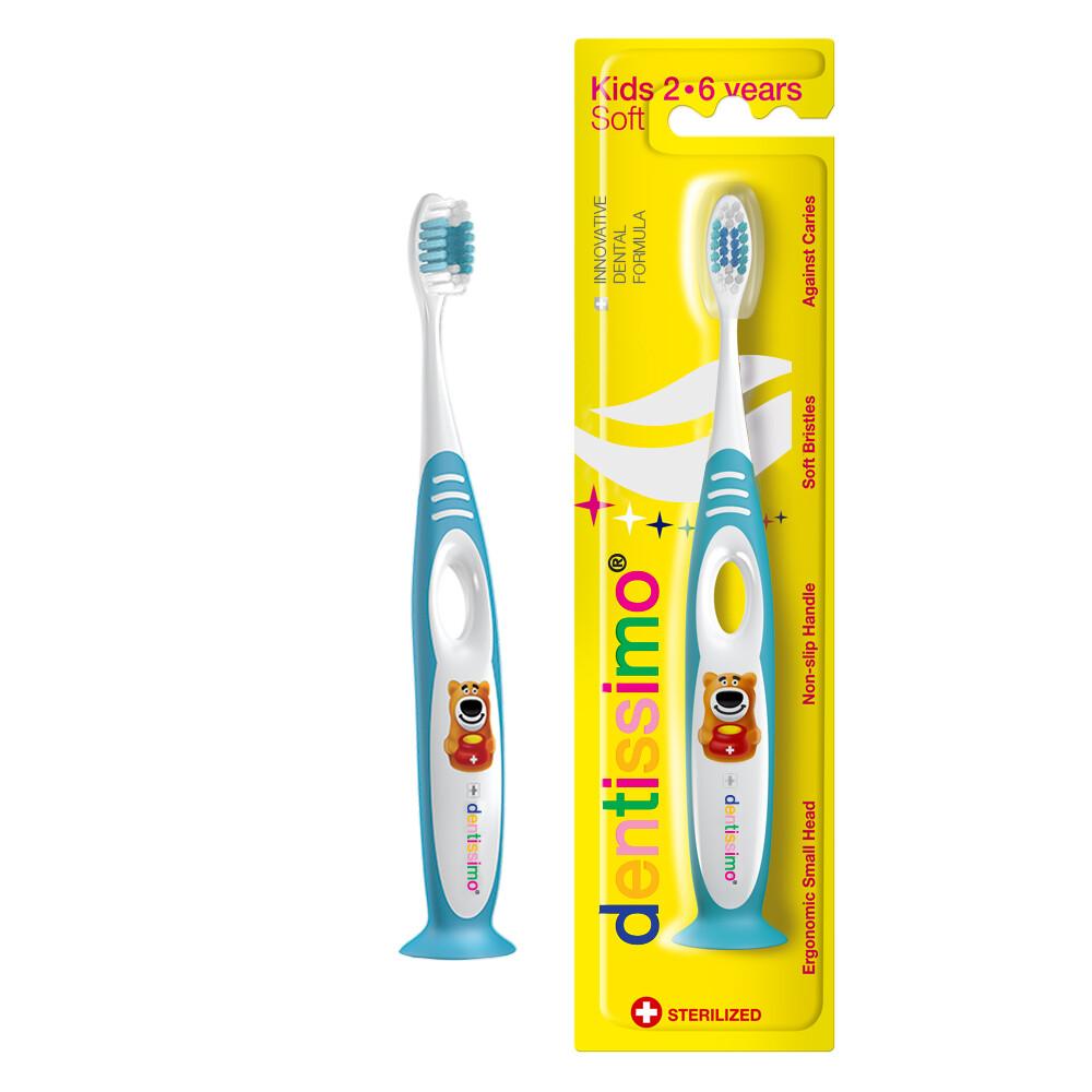 Детская зубная щетка Dentissimo KIDS с 2 до 6 лет