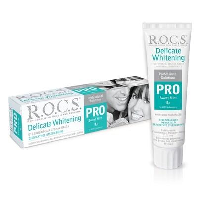 Зубная паста ROCS (РОКС) PRO Деликатное отбеливание, Sweet Mint, 135 г.