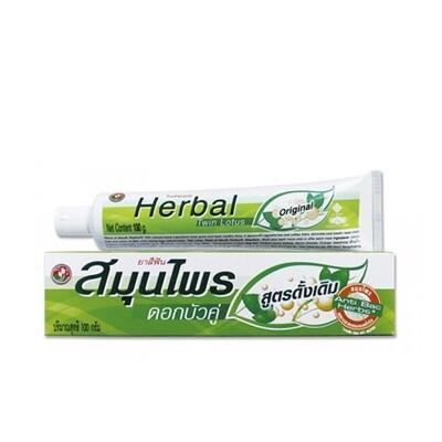 Зубная паста TWIN LOTUS с травами оригинальная, 30 гр
