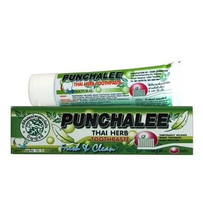 Зубная паста растительная Панчали Punchalee Herbal, 80 гр.