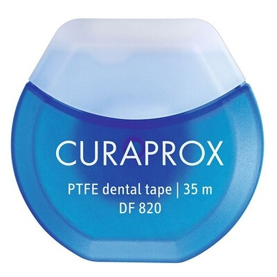 Нить вощеная с хлоргексидином Curaprox DF 820, 35 м