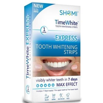 Отбеливающие полоски SHOMI TIME WHITE EXPRESS 7 DAY, 14 полосок
