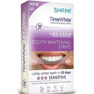 Отбеливающие полоски SHOMI TIME WHITE CLASSIC 10 DAY, 20 полосок
